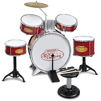 Bontempi Metallic Silver Drum Set 6 PCs With Stool