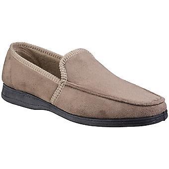 Fleet & Foster Mens Dakis Slip On Plush Loafer Slippers