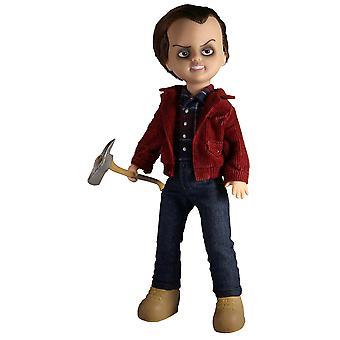 Living Dead Dolls Prezintă păpușa de plastic Shining Jack Torrance, îmbrăcăminte din material textil, de Mezco Toys.