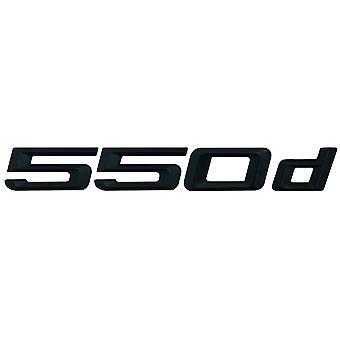 Matt schwarz BMW 550d Auto Modell hintere Boot Nummer Brief Aufkleber Aufkleber Abzeichen Emblem für 5 Serie E93 E60 E61 F10 F11 F07 F18 G30 G31 G38