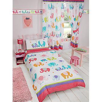 Patchwork Elefant Bettbezug und Kissenbezug Set