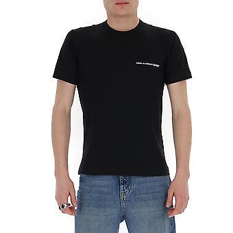 Comme Des Garçons Shirt S281191 Men's Black Cotton T-shirt