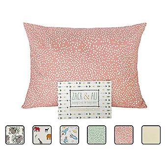 Zack & Ali Organic Toddler Pillowcase, Pink Dot,, Pink Dot, Size 1.0
