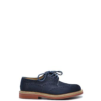 Church's Ezbc004082 Men's Blue Suede Lace-up Shoes