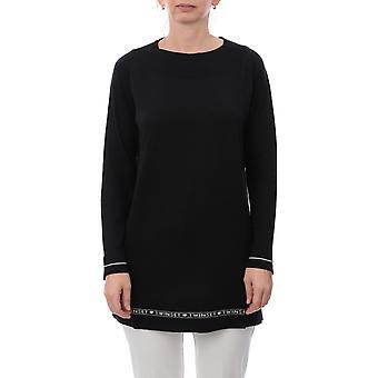 Twin-set 192tp315300006 Women's Black Silk Sweater