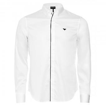 Emporio Armani L/S Shirt White Placket Trim 3H1CN5 1NJJZ