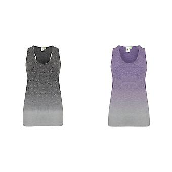 Tombo Womens/dames naadloze Fade Out mouwloos Vest