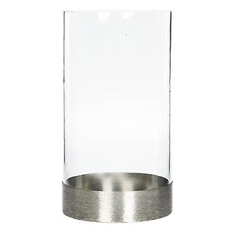 Glas Laterne Silber 20 cm