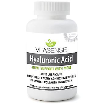 Vitasense Hyaluronic Acid with MSM - Joint Support PLUS - 60 Veg Caps