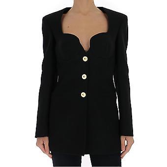 Versace A86587a212457a1008 Women's Black Cotton Blazer