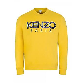 Kenzo Classic Kenzo Paris Embroided Logo Yellow Sweatshirt