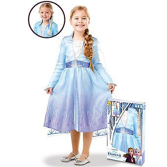 Coffret déguisement et tresse Elsa La Reine des neiges 2 fille