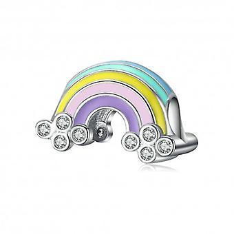 Sterling Sølv Charm Rainbow med emalje - 6430