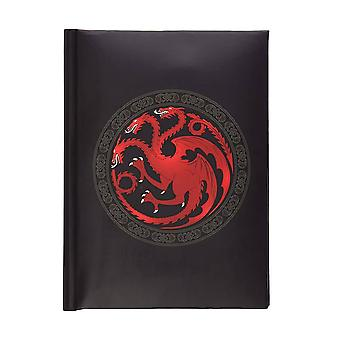 Game of Thrones, notebook with light effect-Targaryen