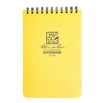 """New Rite In The Rain Waterproof Notepad (6x4"""") Yellow"""