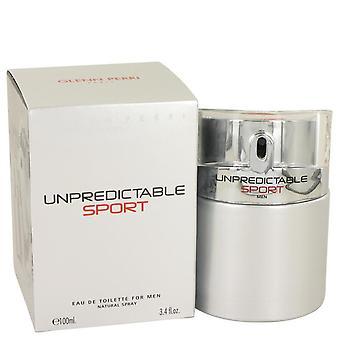 Unpredictable sport eau de toilette spray by glenn perri 535147 100 ml