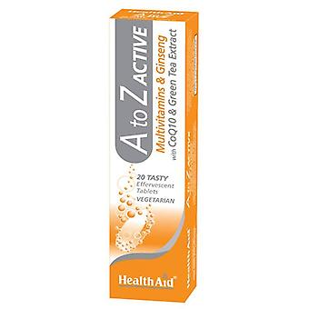 HealthAid A to Z Active Effervescent Tablets 20 (801387)