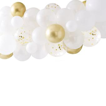 Gold Chrome Balloon Arch Garland - Wedding Photo Backdrop