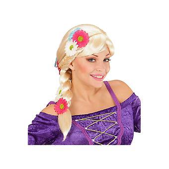 Parrucche parrucca di Rapunzel con fiori