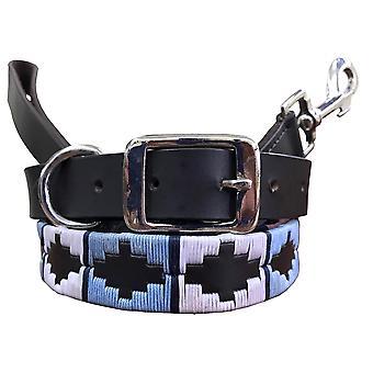 Carlos diaz genuine leather  polo dog collar and lead set  cdkubp275