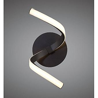 Nur Brown Oxide Wall Lamp 10w Led 2800k, 850lm, Frosted Acrylic/brown Oxide, 3yrs Warranty