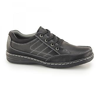 Dr Keller Jericho Mens Lace Up Wide Fit Shoes Black