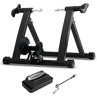Magnetic Bicycle Trainer Bike Turbo Trainer Indoor Stationary Exercice Stand Steel Frame, Résistance magnétique