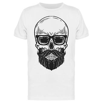 Bearded Cool Skull Sketch Tee Men's -Image by Shutterstock