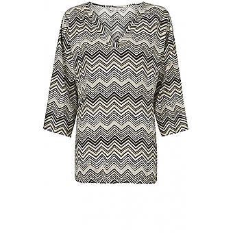 Masai Clothing Darla Zig Zag Print Top