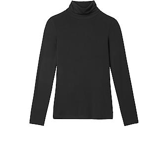 Sandwich Clothing Black Polo Neck Top