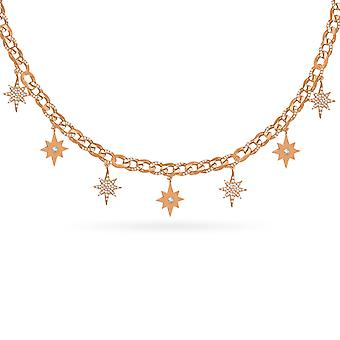 Necklace Chain Stars 18K Gold and Diamonds
