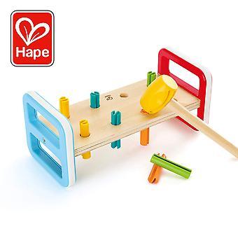 Hape E0506 Flerfarget Hammer Benk