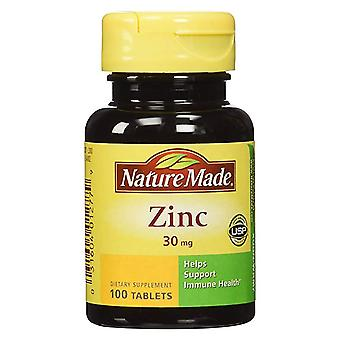 Nature made zinc, 30 mg, dietary supplement, tablets, 100 ea