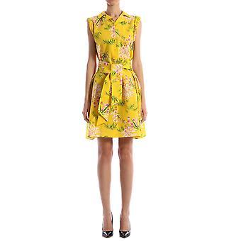 Kenzo Fa52ro14858j39 Damen's gelbe Scotton Kleid
