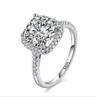 Dazzling halo 2 ct cushion cut simulated diamond ring
