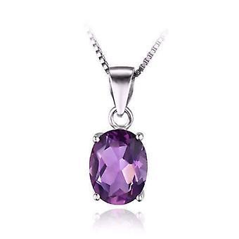 Amethyst oval cut 1.7ct iobi precious gems pendant necklace