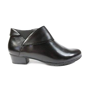 Gerry Weber Carmen 10 Black Leather Womens Wide Fit Ankle Boots