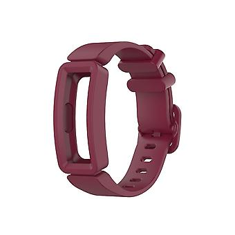 Replacement Silicone Band Strap Bracelet for Fitbit Ace 2/Inspire/Inspire HR[Red Wine]