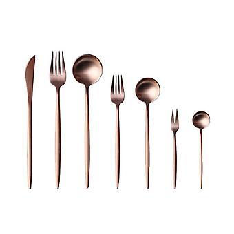Arany rozsdamentes acél evőeszköz szett 1 db