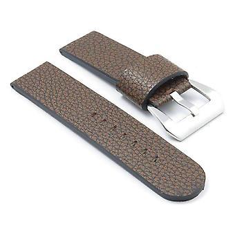 Strapsco dassari watch strap textured leather with large  keeper