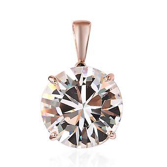 KARIS Solitaire Fabriqué avec Swarovski Crystal Pendant ION Plaqué Rose Gold Bond