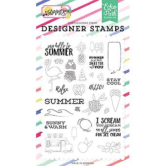 Echo Park Say Hello To Summer Clear Stamps