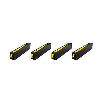 RudyTwos 4x Replacement for HP 971XL Ink Unit Yellow Compatible with Officejet Pro X451dn, X451dw, X476dn, X476dw, X551dw, X576dw