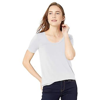 毎日の儀式の女性&アポス;sジャージー半袖スクープネックシャツ、白、ミディアム