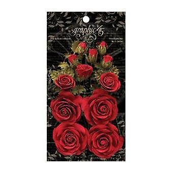 Graphique 45 Fleurs rouges triomphantes