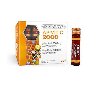 Apivit C Plus 20 ampoules de 2000mg