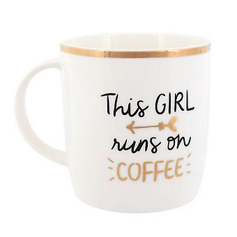 Something Different This Girl Runs On Coffee Ceramic Boxed Mug