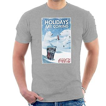 Coca Cola Holidays Are Coming Polar Bear Cheers Men's T-Shirt