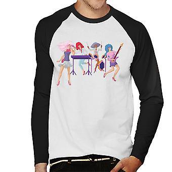 Jem And The Holograms Singing Men's Baseball Long Sleeved T-Shirt