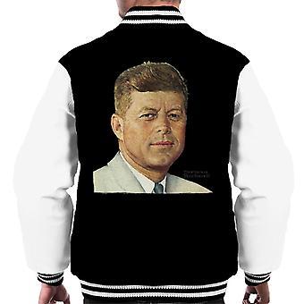 Lørdag kveld Post John F Kennedy Norman Rockwell Cover Menn's Varsity Jacket